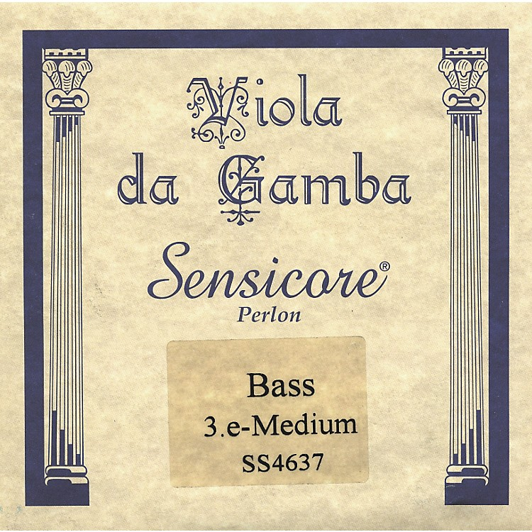 Super Sensitive Sensicore Bass Viola de Gamba Strings E3, Alum/Synthetic