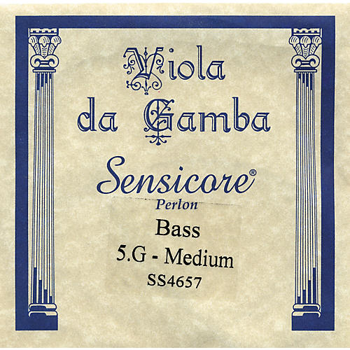 Super Sensitive Sensicore Bass Viola de Gamba Strings G5, Steel/Synthetic
