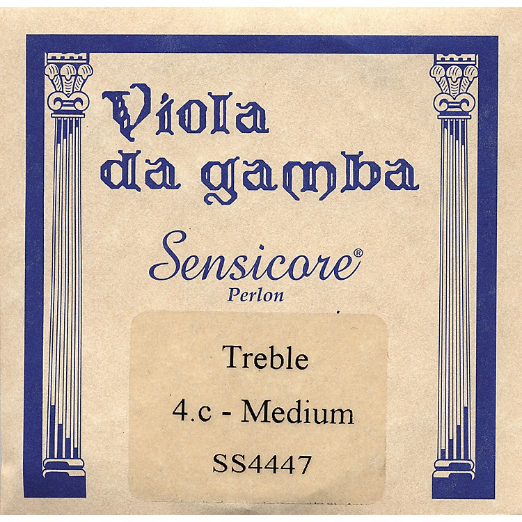 Super Sensitive Sensicore Treble Gamba Strings C-4, Aluminum/Synthetic