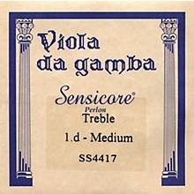 Super Sensitive Sensicore Treble Gamba Strings D-1, Aluminum/Synthetic