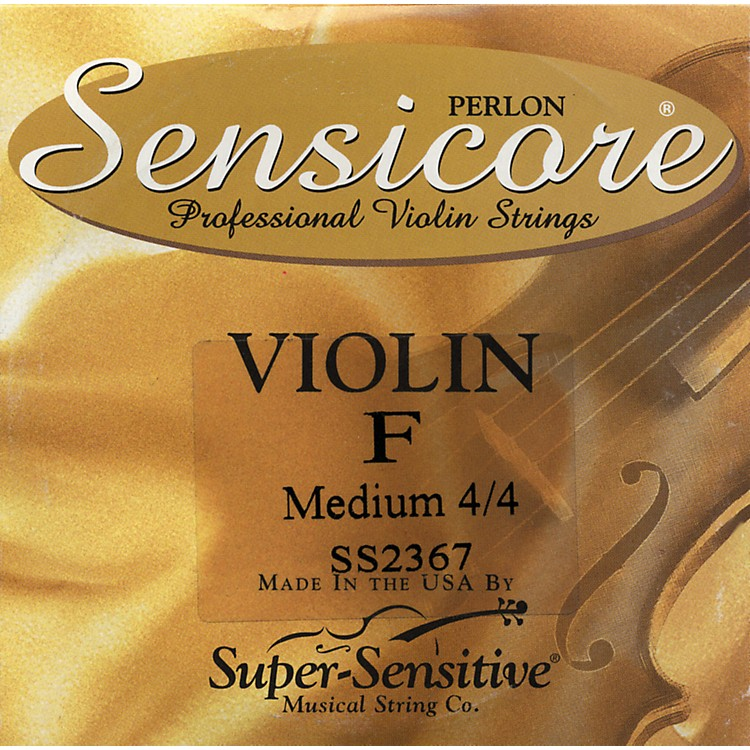 Super SensitiveSensicore Violin Strings for 6-String ViolinF, Medium, Nickel4/4 Size