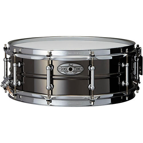 Pearl Sensitone Beaded Brass Snare Drum 14 x 5 in. Black