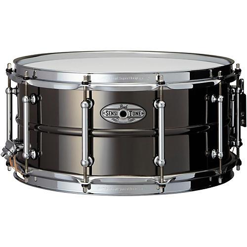 Pearl Sensitone Beaded Brass Snare Drum 14 x 6.5 in. Black