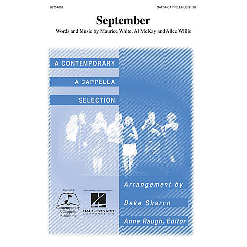 Contemporary A Cappella Publishing September SATB a cappella by Earth, Wind & Fire arranged by Deke Sharon