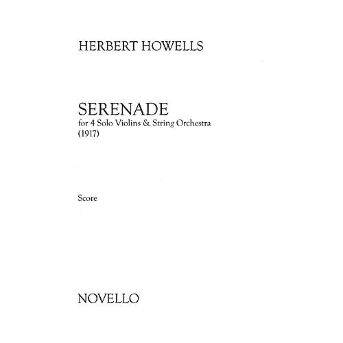 Novello Serenade (Four Solo Violins and String Orchestra) Music Sales America Series Softcover by Herbert Howells-thumbnail