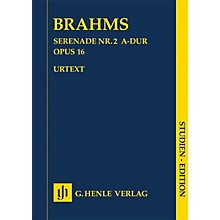 G. Henle Verlag Serenade No. 2 in A Major, Op. 16 Henle Study Scores by Johannes Brahms Edited by Michael Musgrave