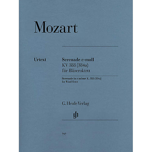 G. Henle Verlag Serenade in C minor, K. 388 (384a) Henle Music Folios Series Softcover by Wolfgang Amadeus Mozart-thumbnail