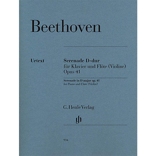 G. Henle Verlag Serenade in D Major  Op. 41 Henle Music Folios Series Softcover Composed by Ludwig van Beethoven