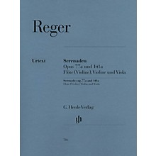 G. Henle Verlag Serenades for Flute, Violin, and Viola Op. 77a and Op. 141a Henle Music Folios Softcover by Max Reger