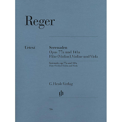 G. Henle Verlag Serenades for Flute, Violin, and Viola Op. 77a and Op. 141a Henle Music Folios Softcover by Max Reger-thumbnail