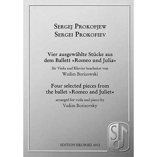 Sikorski Sergei Prokofiev - Four Selected Pieces from the Ballet Romeo and Juliet String by Sergei Prokofiev-thumbnail