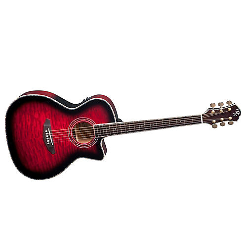 Michael Kelly Series 15 Arena Cutaway Acoustic-Electric Guitar Transparent Red