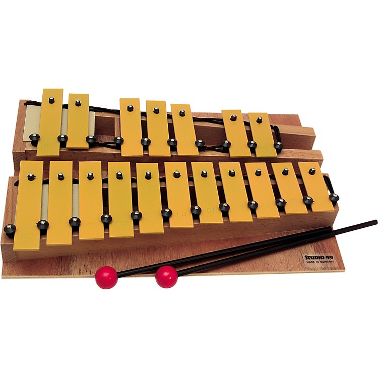 Studio 49 Series 1600 Orff Glockenspiels Chromatic Soprano Unit Complete, Gsc