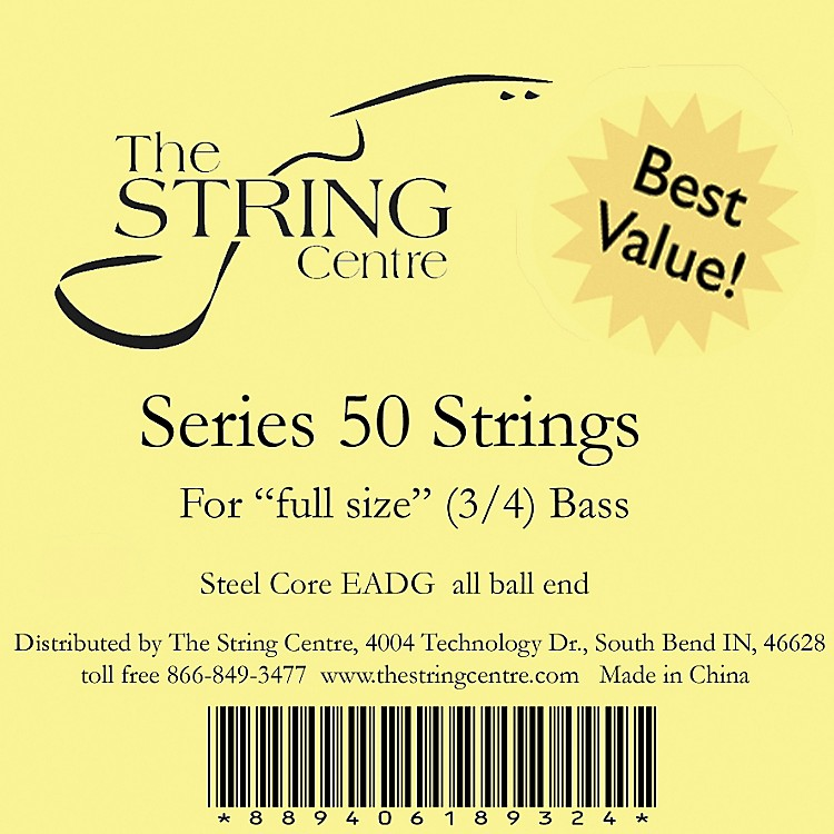 The String Centre Series 50 Double Bass String Set 3/4 size set
