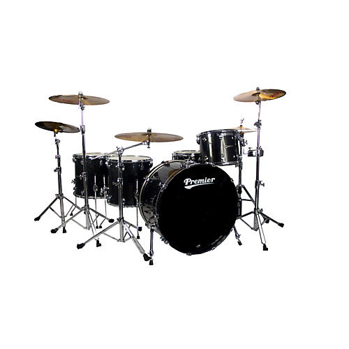 Premier Series Elite Maple Concert Master Ace 24  4-Piece Shell Pack Black Sparkle Lacquer