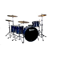 Premier Series Elite Maple Concert Master Ace 24  4-Piece Shell Pack Renee Blue Lacquer
