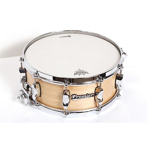 Premier Series Elite Maple Snare Drum Natural Lacquer 14x5.5