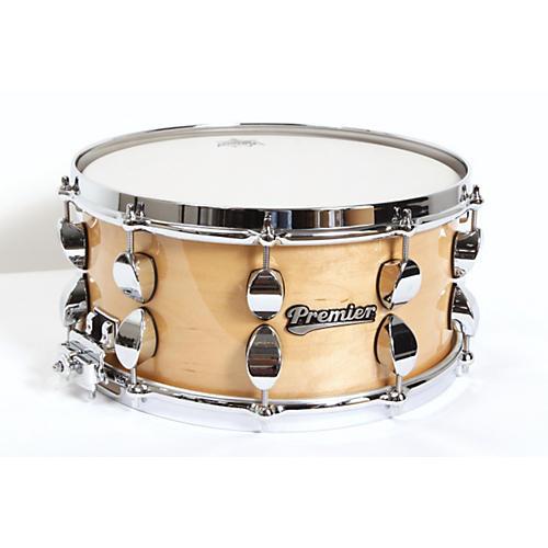 Premier Series Elite Maple Snare Drum Natural Lacquer 14x6.5