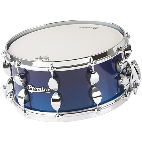 Premier Series Elite Maple Snare Drum Renee Blue Lacquer 14x6.5