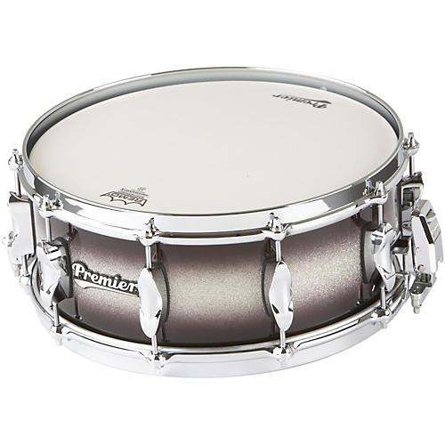 Premier Series Elite Maple Snare Drum Silver Sparkle Burst Lacquer 14x5.5