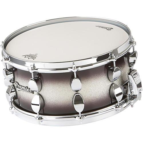 Premier Series Elite Maple Snare Drum Silver Sparkle Burst Lacquer 14x6.5