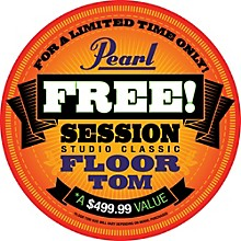 "Pearl Session Studio Classic 4-Piece Shell Pack with Free 14"" Floor Tom"