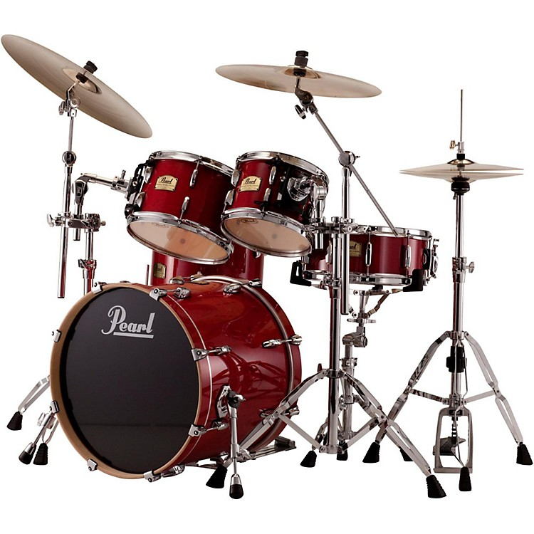 Pearl Session Studio Classic 4-Piece Shell Pack with Free 16-Inch Floor Tom Sequoia Red with Chrome Hardware