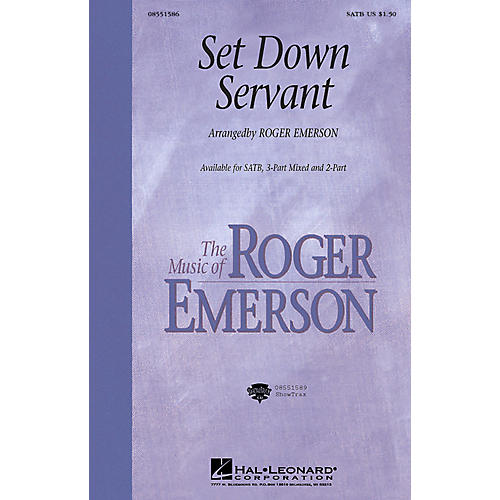 Hal Leonard Set Down, Servant (3-Part Mixed) 3-Part Mixed Arranged by Roger Emerson