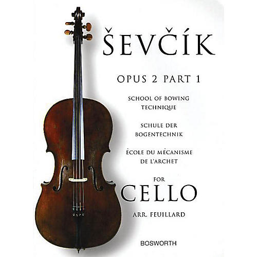 Bosworth Sevcik for Cello - Opus 2, Part 1 Music Sales America Series Written by Otakar Sevcik