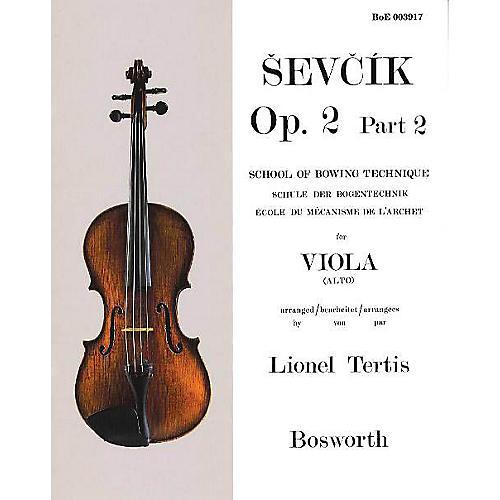 Bosworth Sevcik for Viola - Opus 2, Part 2 Music Sales America Series Written by Otakar Sevcik