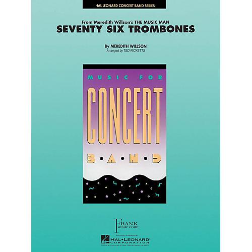 Hal Leonard Seventy-Six Trombones Concert Band Level 4 Arranged by Ted Ricketts-thumbnail