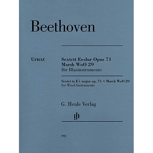 G. Henle Verlag Sextet in E-flat Major, Op. 71 and March, WoO 29 Henle Music Folios by Beethoven Edited by Egon Voss-thumbnail