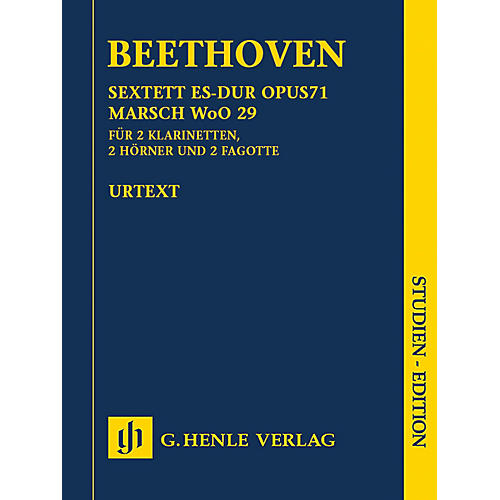 G. Henle Verlag Sextet in E-flat Major, Op. 71 and March, WoO 29 Henle Study Scores by Beethoven Edited by Egon Voss-thumbnail