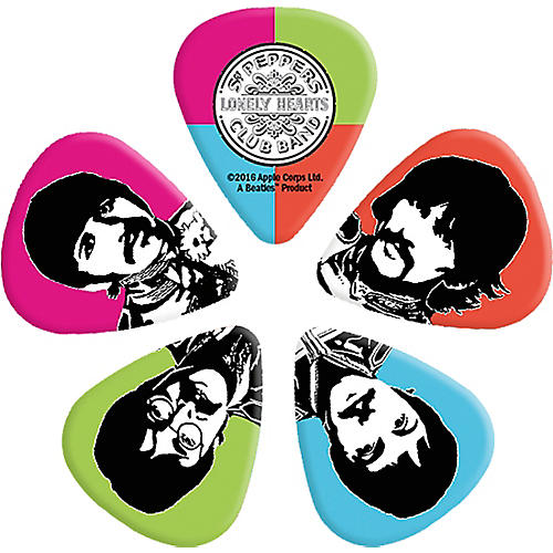 D'Addario Planet Waves Sgt. Pepper's Lonely Hearts Club Band 50th Anniversary Guitar Picks-thumbnail