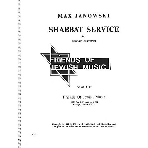 Transcontinental Music Shabbat Service For Friday Evening SATB composed by Max Janowski-thumbnail