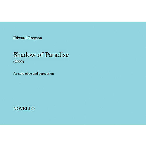 Novello Shadow of Paradise Music Sales America Series Book by Edward Gregson-thumbnail