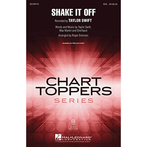 Hal Leonard Shake It Off 2-Part by Taylor Swift Arranged by Roger Emerson-thumbnail