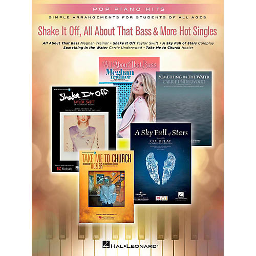 Hal Leonard Shake It Off, All About That Bass & More Hot Singles for Easy Piano