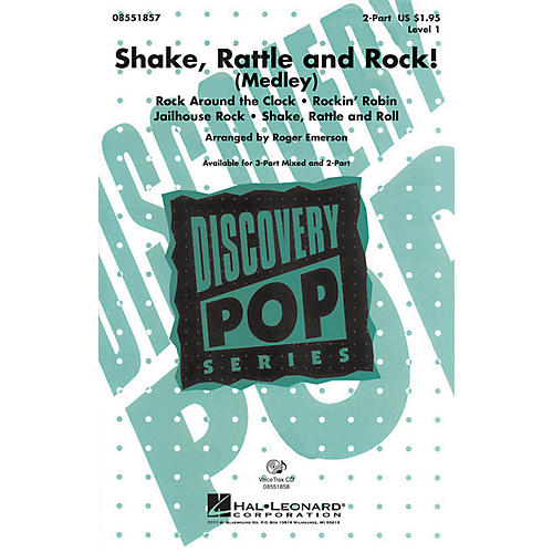Hal Leonard Shake, Rattle and Rock! (Medley) 2-Part arranged by Roger Emerson-thumbnail