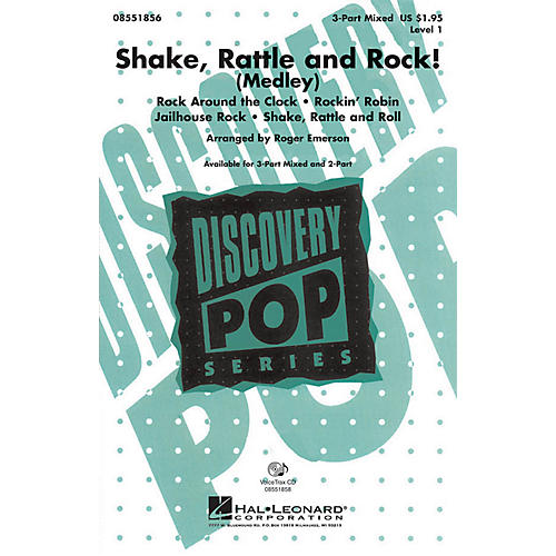 Hal Leonard Shake, Rattle and Rock! (Medley) 3-Part Mixed arranged by Roger Emerson-thumbnail