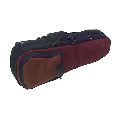 Mooradian Shaped Viola Case Slip-On Cover Burgundy with Backpack Straps