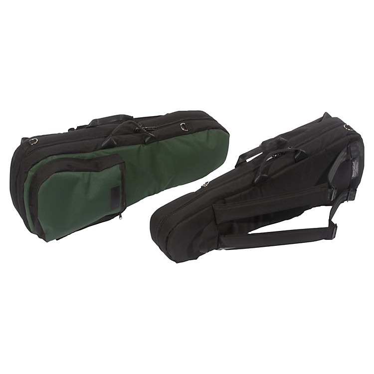 MooradianShaped Viola Case Slip-On Cover with Combination StrapsGreen