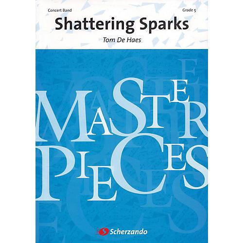 Scherzando Shattering Sparks Full Score Concert Band Level 5 Composed by Tom de Haes-thumbnail
