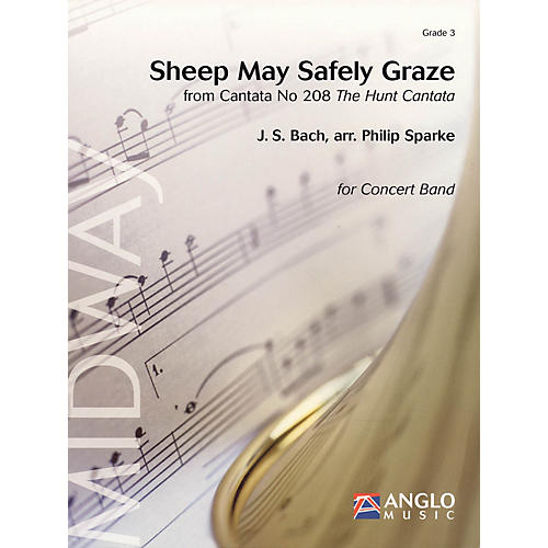 Anglo Music Press Sheep May Safely Graze (Grade 3 - Score Only) Concert Band Level 3 Arranged by Philip Sparke-thumbnail