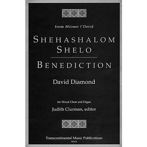 Transcontinental Music Shehashalom Shelo/Benediction SATB composed by David Diamond