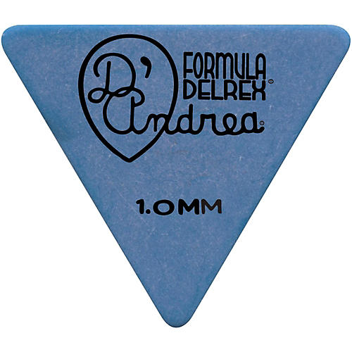 D'Andrea Shell Celluloid 355 Triangle Picks - One Dozen Blue 1.0MM