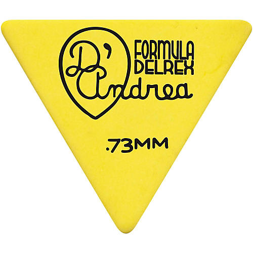 D'Andrea Shell Celluloid 355 Triangle Picks - One Dozen Yellow .73 mm