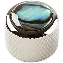 Q Parts Shell Dome Knob Single Black Chrome Natural Abalone