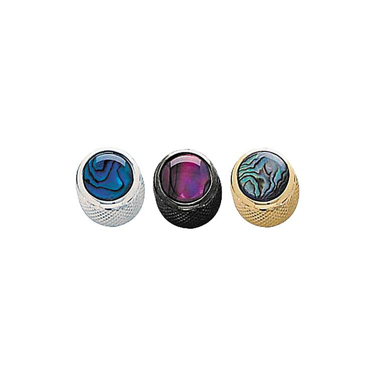 Q Parts Shell Dome Knob Single Black Natural Abalone