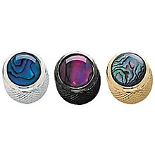 Q Parts Shell Dome Knob Single Gold Purple Abalone